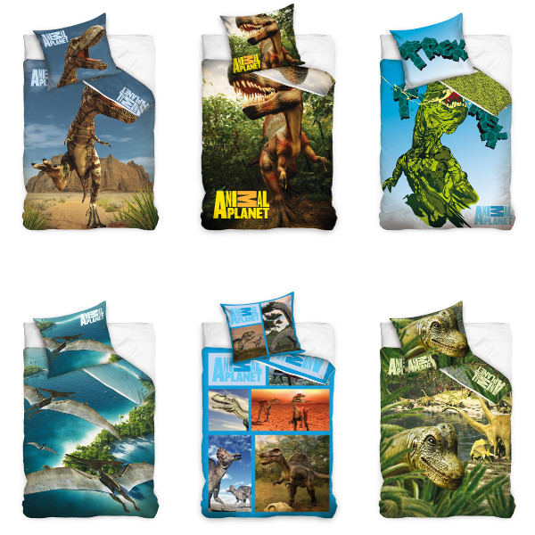 animal planet bettw sche dinosaurier bed linen dinosaur dino ebay. Black Bedroom Furniture Sets. Home Design Ideas
