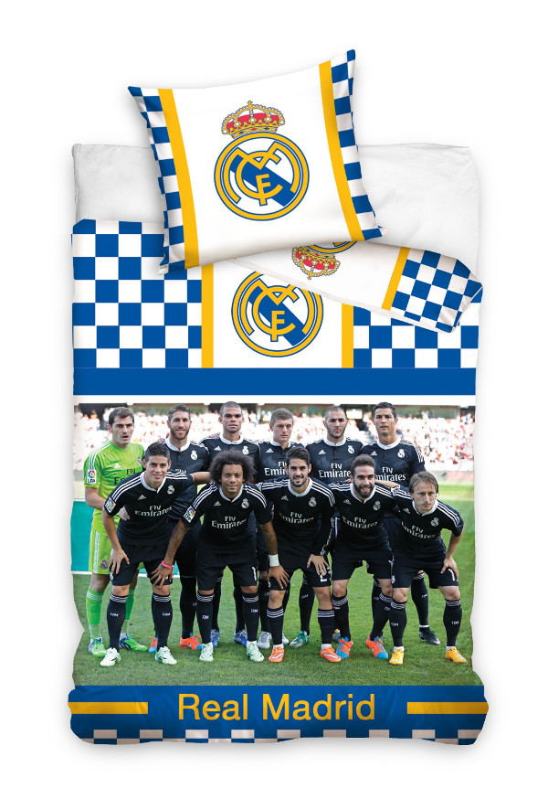 Football Bed Cover Real Madrid Linen Ronaldo Bale Benzema Kroos Ebay