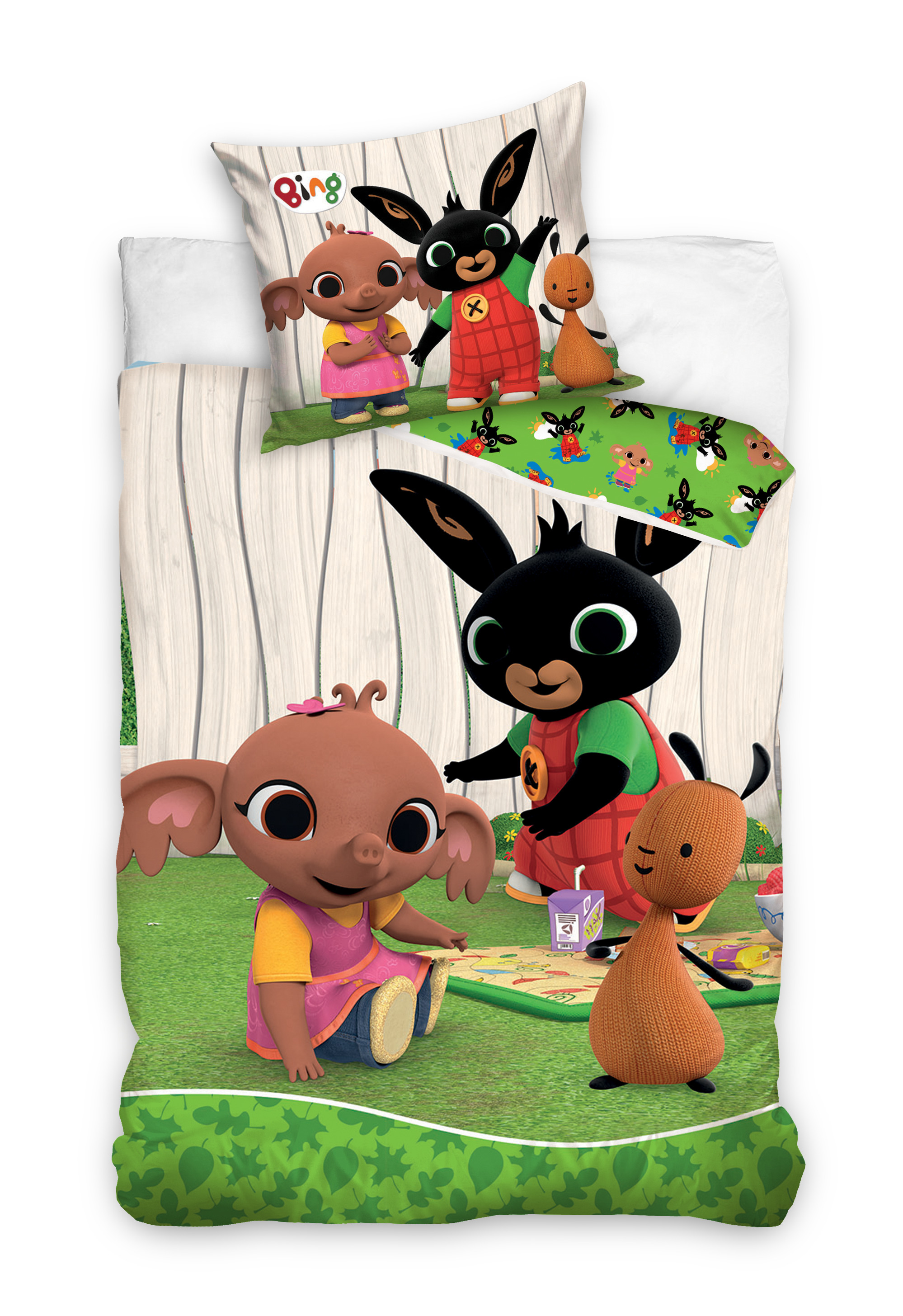 53.1 x 39.3 inch Bing Bed Linen//Childrens Bed Linen Baby Duvet Set Bing Bunny Bed Linen,Toddler Bed Duvet Cover Set Official Licensed