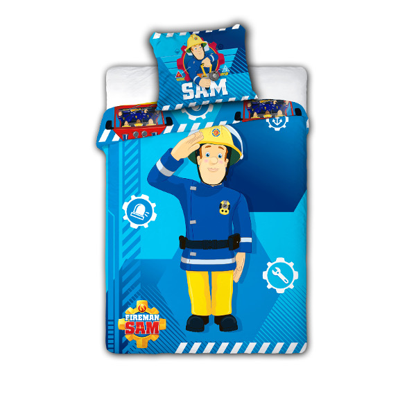 feuerwehrmann sam kinderbettw sche fireman sam babybettw sche 100x135 cm ebay. Black Bedroom Furniture Sets. Home Design Ideas