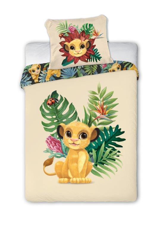100x135 cm mit Rei/ßverschluss Kinderbettw/äsche Disney III 2-teilig 100/% Baumwolle 40x60 K/önig der L/öwen
