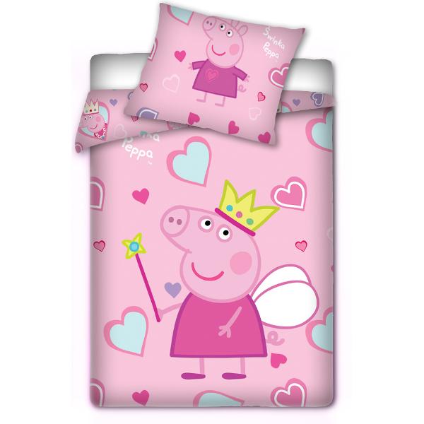 peppa pig kinderbettw sche babybettw sche schweinchen peppa 100 x 135 cm ebay. Black Bedroom Furniture Sets. Home Design Ideas